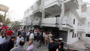 French-Embassy-Libya-bombed